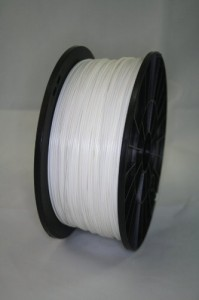 1kg (2.2lbs), 1.75mm, PLA 3d Printer Filament, WHITE color