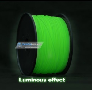 3mm PLA Green Glow in Dark Filament 1.0kg (=2.205 lbs) on Spool for 3D Printer MakerBot RepRap and UP! - Jet