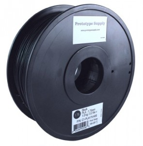 Prototype Supply PLA 3D Printing Filament 1.75mm Black 1kg/roll (2.2 pounds)
