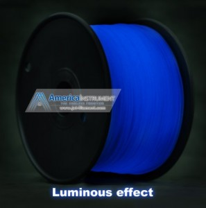 1.75mm ABS Blue Glow in Dark Filament 1.0kg (=2.205 lbs) on Spool for 3D Printer MakerBot, RepRap, MakerGear, Ultimaker and UP! - Jet