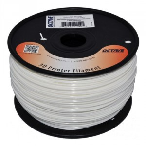Octave 1.75mm White ABS Filament 1kg (2.2lbs) Spool for Reprap, MakerBot, Afinia and UP! 3D Printer, as low as $14.06 per pound