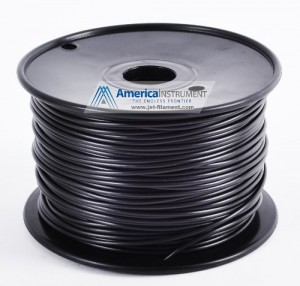 Jet - ABS (1.75mm, Black color, 1.0kg =2.204lbs) Filament on Spool for 3D Printer MakerBot, RepRap, Makergear, Ultimaker & Up!