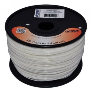 Octave 1.75mm Natural ABS Filament 1kg (2.2lbs) Spool for Reprap, MakerBot, Afinia and UP! 3D Printer