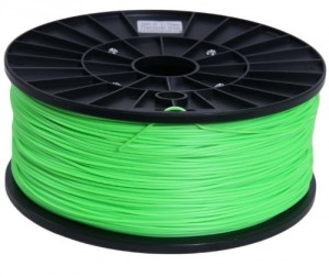 Signstek 1.75mm ABS Filament 1kg/2.2lb Fluorescent Green for 3D Printers Reprap, MakerBot Replicator 2, Afinia, Solidoodle...