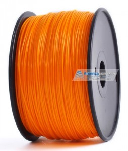 Jet - ABS (1.75mm, Orange color, 1.0kg =2.204lbs) Filament on Spool for 3D Printer MakerBot, RepRap, MakerGear, Ultimaker and UP!