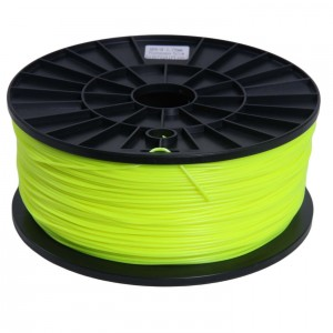 Signstek 1.75mm ABS Filament 1kg/2.2lb Fluorescence Yellow for 3D Printers Reprap, MakerBot Replicator 2,Afinia, Solidoodle...