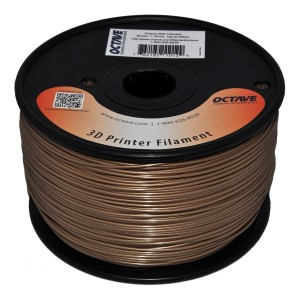 Octave 1.75mm Brown ABS Filament 1kg (2.2lbs) Spool for Reprap, MakerBot, Afinia and UP! 3D Printer