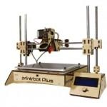 "Printrbot Assembled PLUS (v2) 3D Printer, ABS/PLA Filament, 1.75mm Ubis Hot End, 8"" x 8"" x 8"" Build Volume"