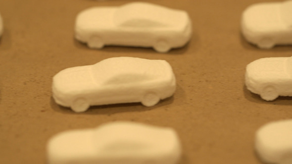3D printed chocolate Mustangs