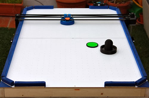 Air hockey 3d robot