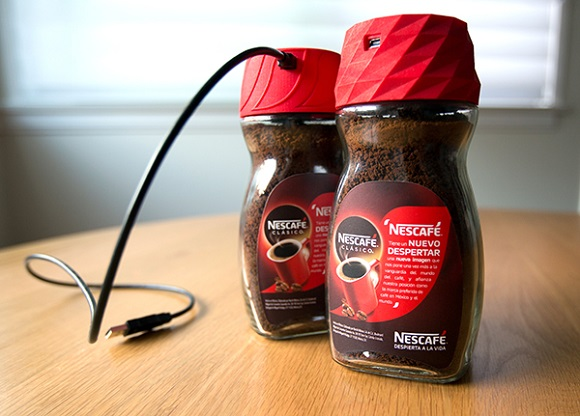 Nescafe enhances their jars with 3D-printed alarm clock