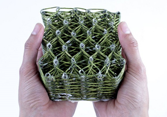 3D Weaver creates flexible woven structures out of wool
