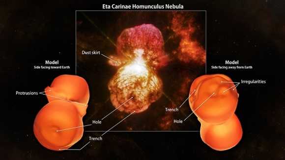 NASA creates first hi-def 3D printed model of Eta Carinae nebula