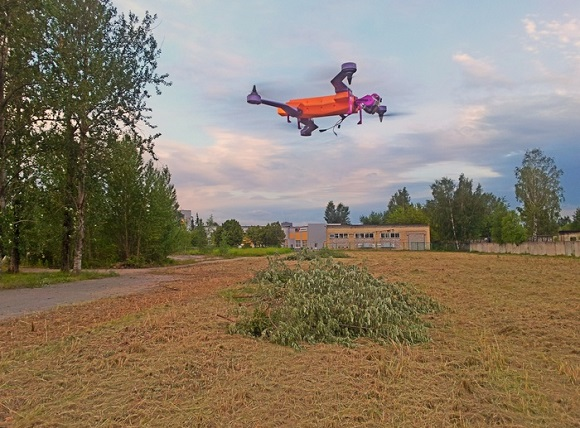 3D Printed Sports Drone AirDog Ready for Take-off