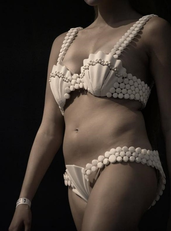Some of the World's Top 3D Printed Fashion models presented on Russian Geek Picnic 2014