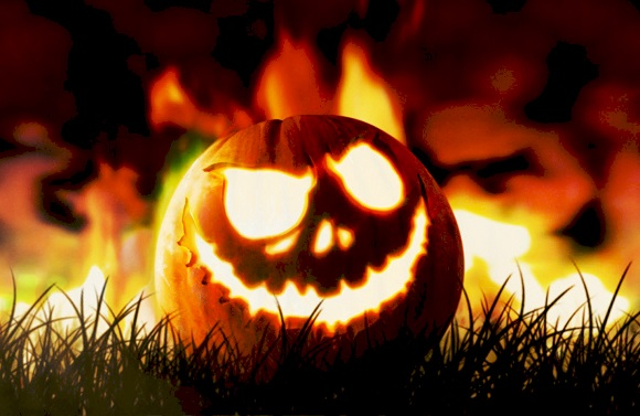 Making a Jack O' Lantern carving, from a 3D pumpkin in Adobe Photoshop CC 2014