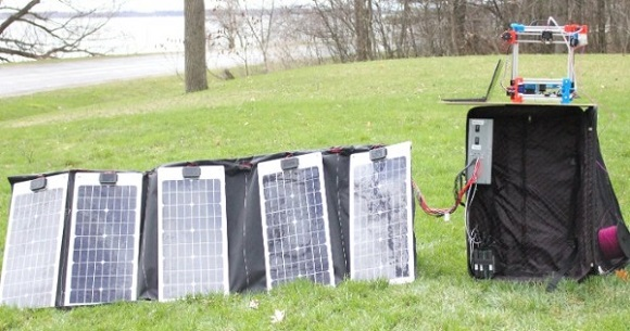 Portable solar-powered 3D printers can make the printing possible in off-grid communities