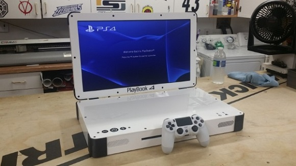 3D printing helped American Engineer to turn his PS4 into a laptop