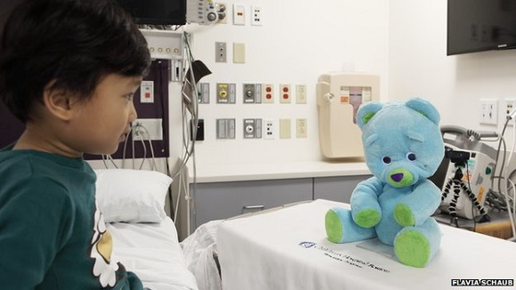 A new 3D printed bear helps doctors and parents interact with children