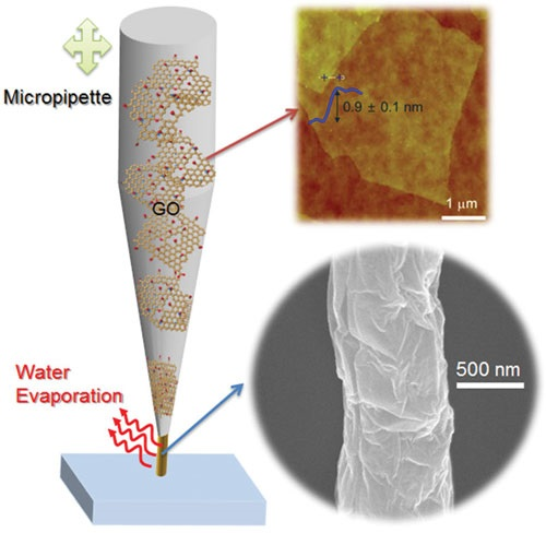 3D printed nanostructures made up of grapheme developed by Korean scientists