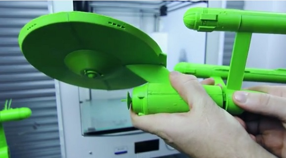 Large scale model of the Starship Enterprise 3D Printed on Ultimaker 2