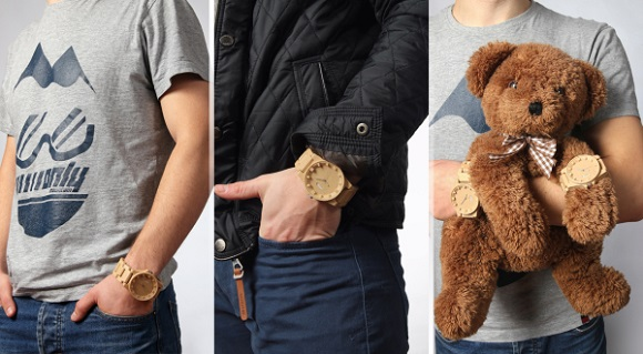A collection of 3D printed wristwatch made with wood filament launched by Jewel