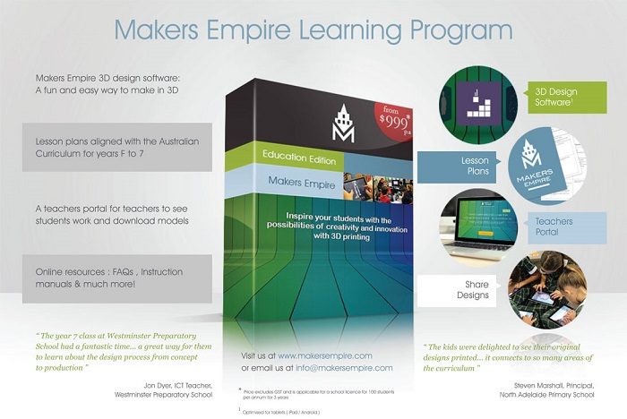 Adelaide's Maker's Empire 3D printing program to take place in 30 schools all over New York