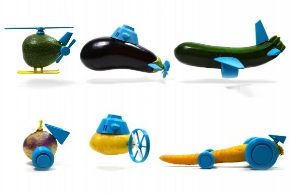 3D printed accessories help make funny toys from vegetables