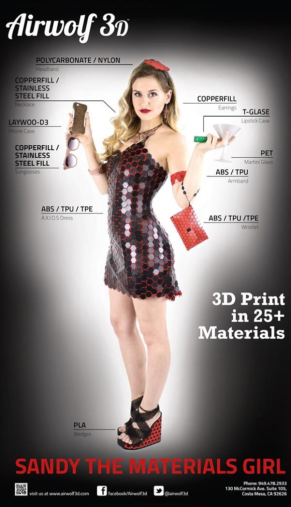 An Entire Outfit Was 3D Printed Using Airwolf Newest HD-R 3D Printer