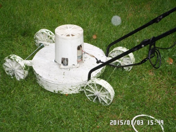 A man from South Africa uses his home-made 3D printer to make a lawnmower