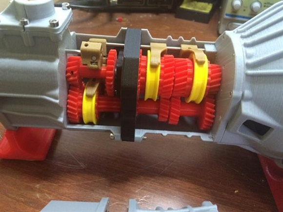 3D printed five-speed transmission for Toyota 22RE engine works well