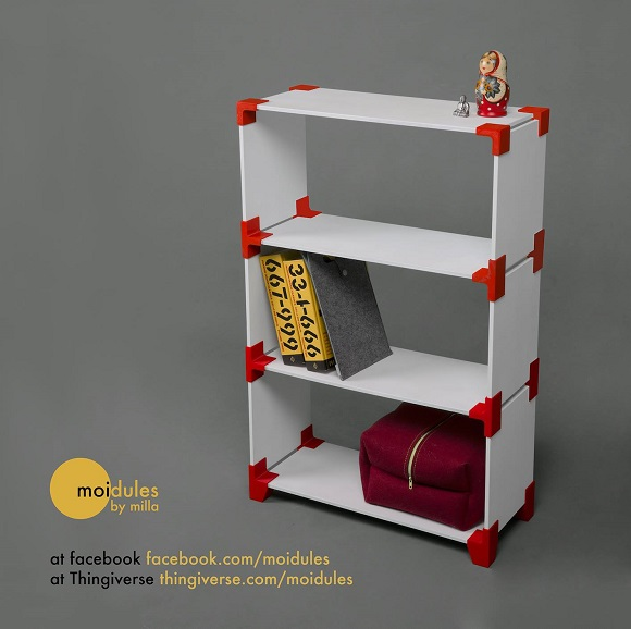3D printable Shelving System for Everyone to Create Custom Shelves