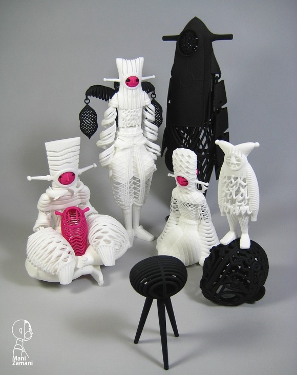 3D printed toys from Mani Zamani challenge the convention