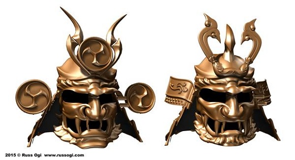 An artist from Japan 3D prints Fujin and Raijin Kabuto