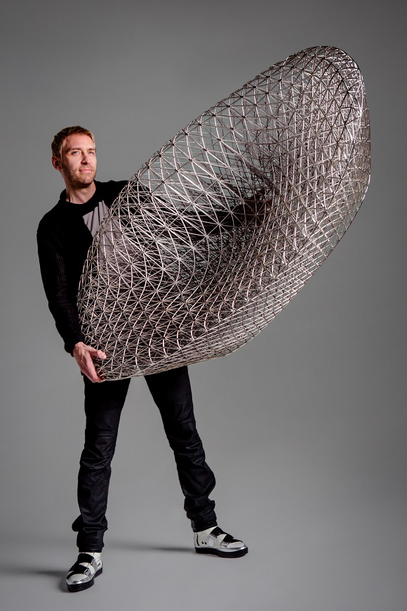 A 3D printed sofa created from a minimal mesh by Janne Kyttanen
