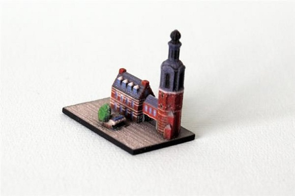 Small buildings by Ittyblox to produce a 3D printed miniature of Amsterdam
