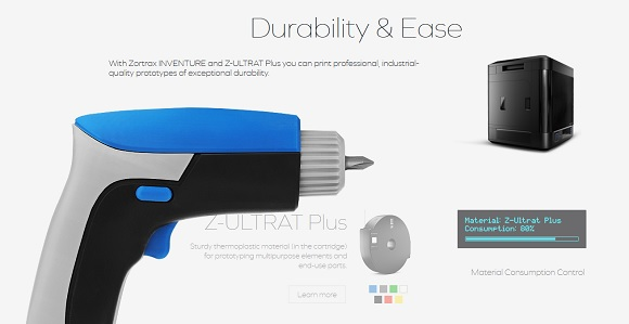 New 'Inventure' 3D printer for professional needs developed by Zortrax