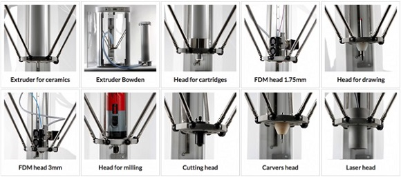 The GAIA Multitool MAXX 3D printer presented by Poland's Tytan 3D has 10 interchangeable heads