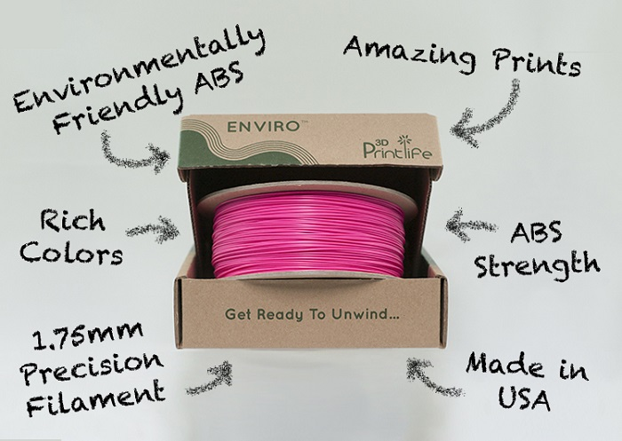 Enviro - Biodegradable Eco-Friendly ABS Filament From 3DPrintLife