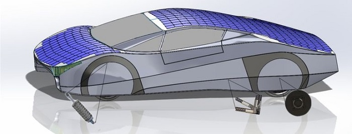 EVX Ventures unveils 3D Printed Parts of a Solar Powered Car