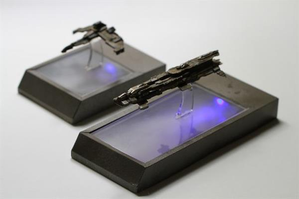 Scaled 3D Printed Models of Eve Online Ships