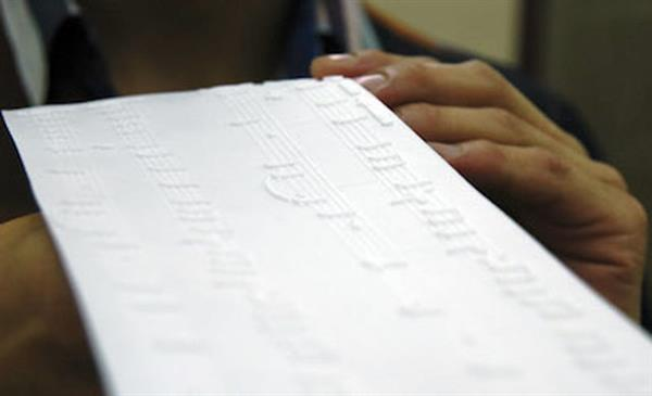 Musical Notations 3D Printed by a Blind Pianist