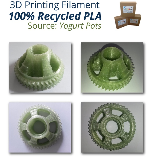 100% Recycled 3D Printing Filaments on Kickstarter