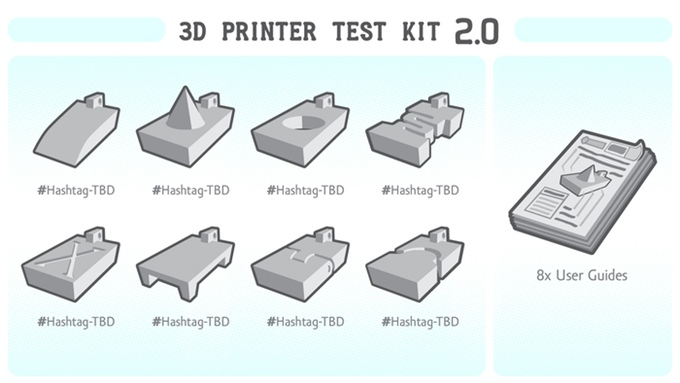 3D Printer Test Kit 2.0 By 3dkitbash.Com: Test and Share Your Results With the Community