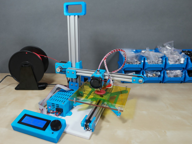 Portable TekBot 3D Printer: Small in Size, Simple to Assemble, Reliable in Printing