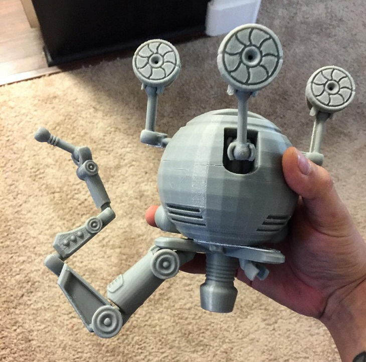 Mr. Handy, of Fallout Fame, 3D-Printed by an Avid Fan