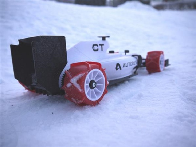 3D Printed F1 Race Car Model Gets Winter Tires
