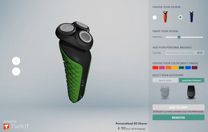 Philips 125th Anniversary Features 125 3D Printed Custom Shavers