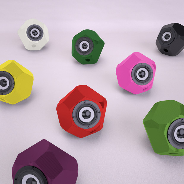 3D printed ball-shaped Speakers from Vienna