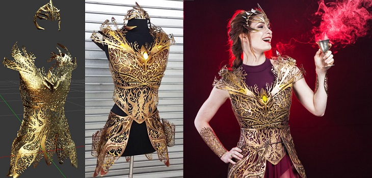 Melissa Ng's Amazing 3D Printed Dreamer Regalia Armor for Felicia Day